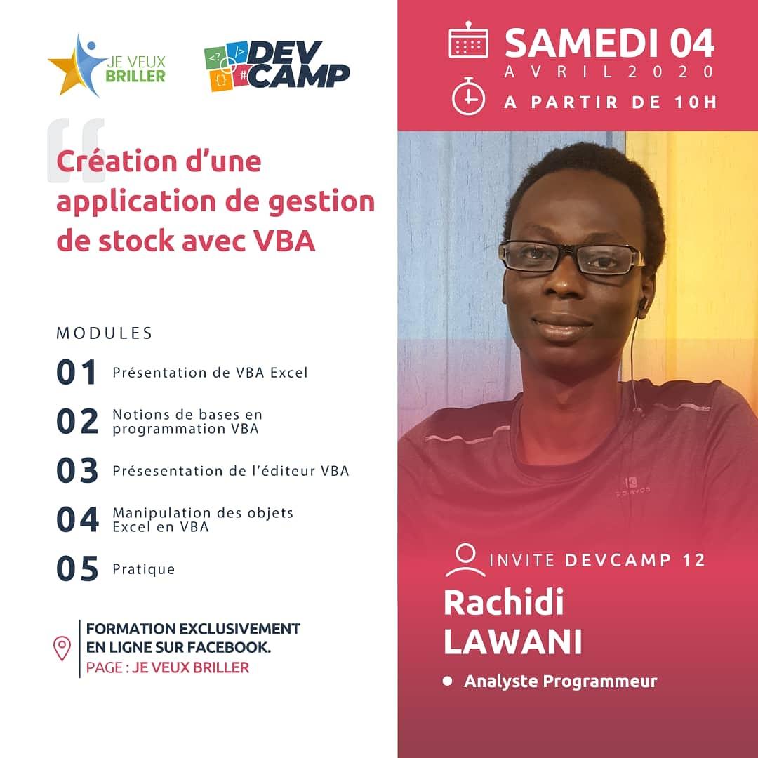 Devcamp 13 : créez une application de gestion de stock avec VBA