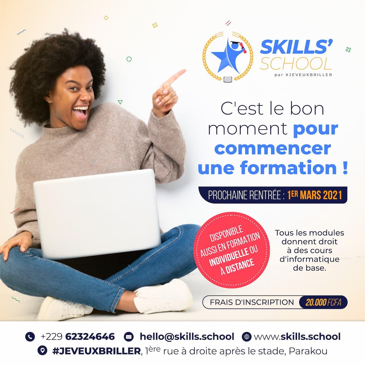 Skills'School : La deuxième rentrée 2020/2021 bientôt là !