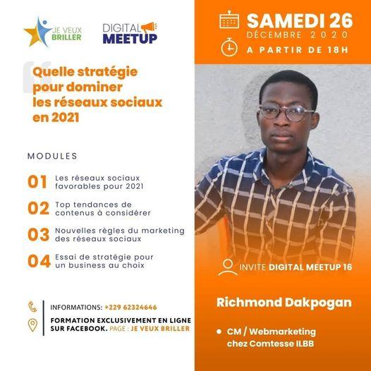 Digital Meetup 16 : Quelle stratégie pour dominer les réseaux sociaux en 2021